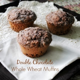 Double Chocolate Whole Wheat Muffins