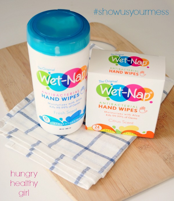 Wet Nap Wipes for easy clean up
