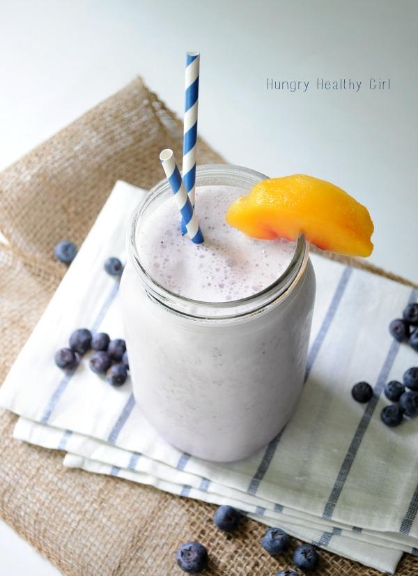 Blueberry Peach Banana Smoothie