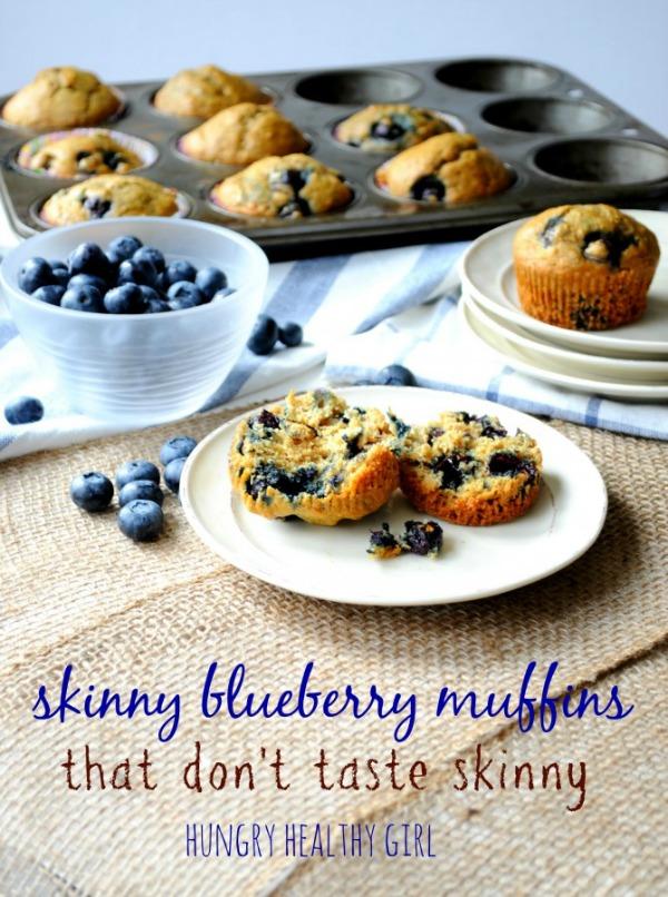 skinny blueberry muffins that don't taste skinny