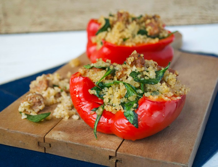 Spicy Italian Sausage Stuffed Peppers