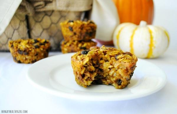 Baked Pumpkin Oatmeal Muffins