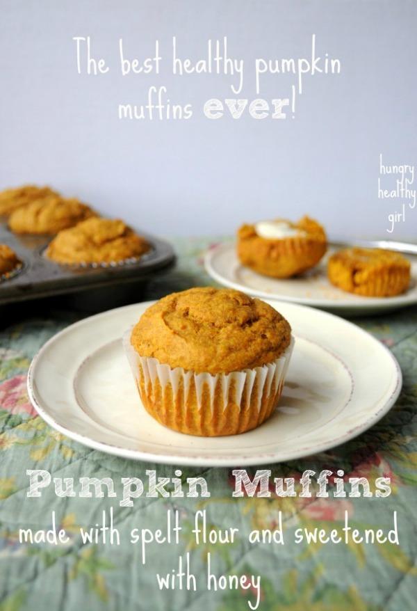 Pumpkin Spelt Muffins- aka... the best healthy pumpkin muffins ever!