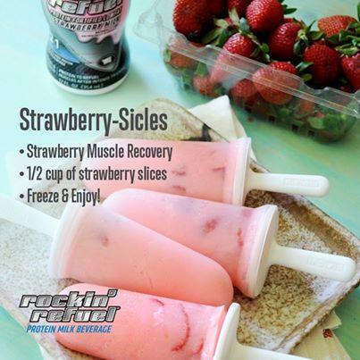 rockin refuel strawberry sicles