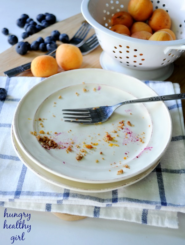 Healthy Fresh Apricot Blueberry Oat Bars- The perfect summer dessert!