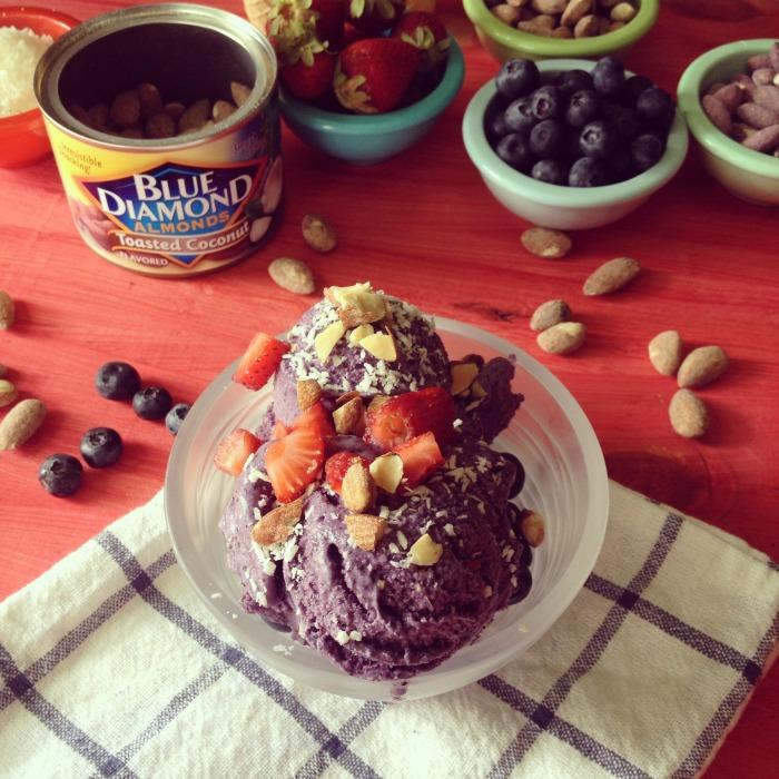 vegan blueberry ice cream