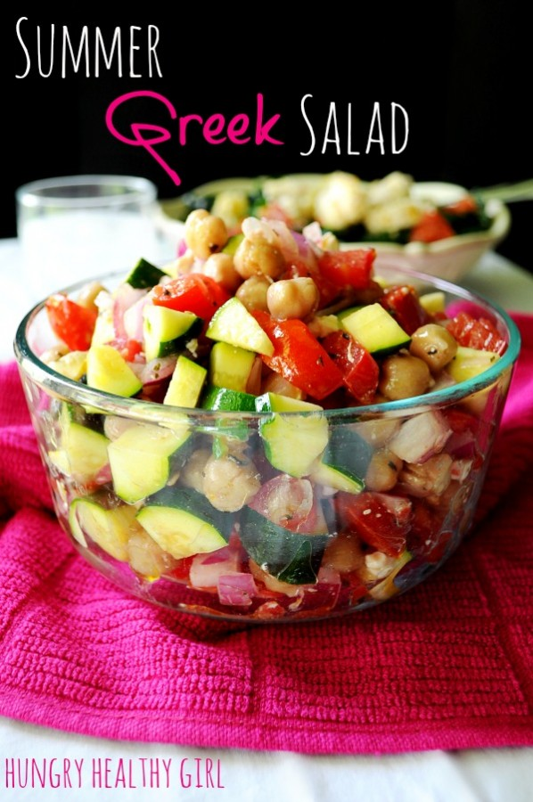 An easy fresh summer salad, that's perfect for bringing to your next BBQ or pool party!
