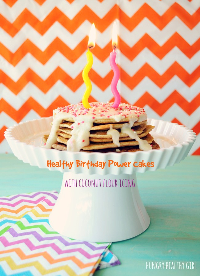 Healthy Birthday Power Cakes with Coconut Flour Icing from
