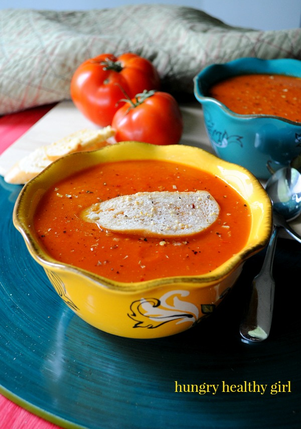 Garden Fresh Classic Tomato Soup- easy, tasty and bursting with nutrients! #vegan #glutenfree #healthy