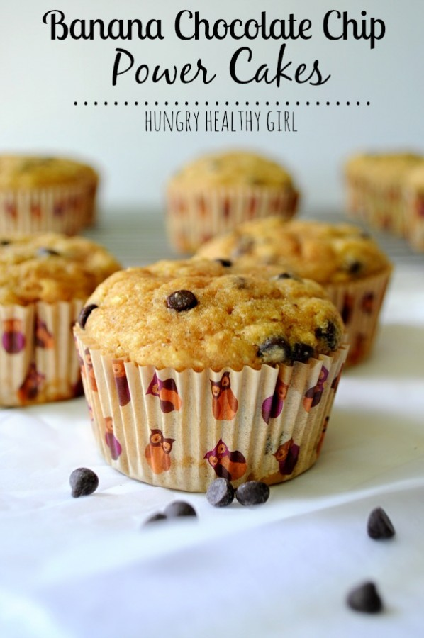 Banana chocolate chip power cakes kims cravings banana chocolate chip power cakes super moist protein packed banana muffins with no oil ccuart Image collections
