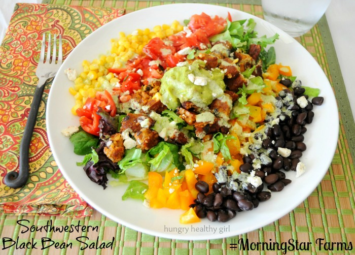 Southwestern Black Bean Salad- Quick, easy and flavorful meal idea!