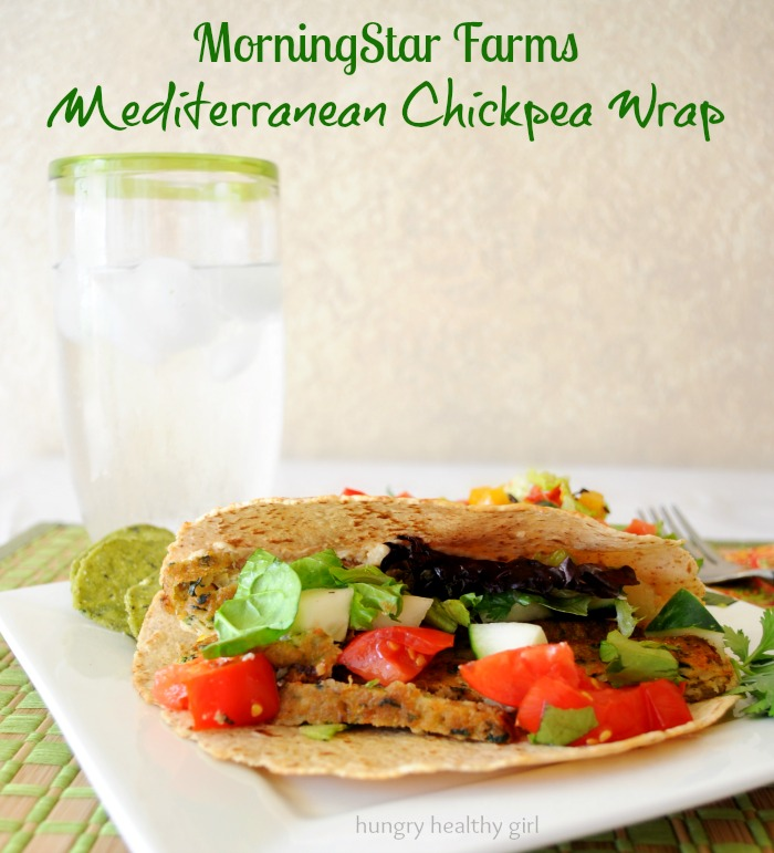 MorningStar Farms Mediterranean Chickpea Wrap- Quick, easy and flavorful meal idea!