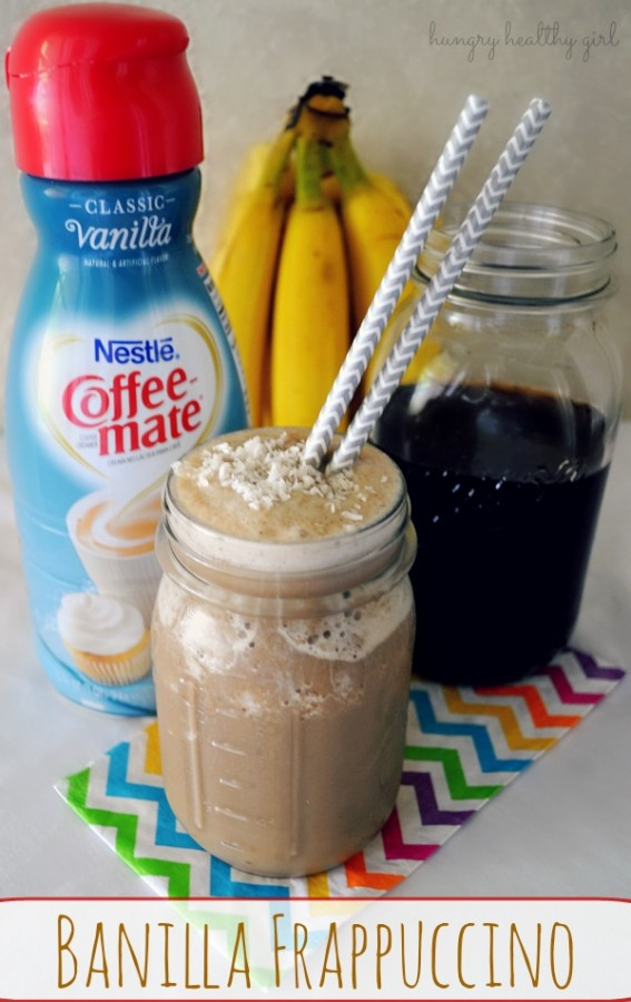 homemade banilla frappuccino- super easy, creamy and delicious!