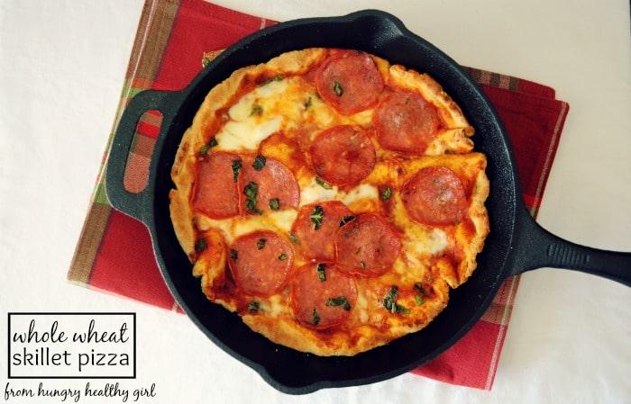 Whole Wheat Skillet Pizza Kim s Cravings