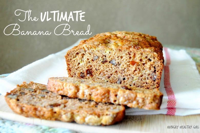 The Ultimate Banana Bread- loaded with banana flavor and naturally sweetened with honey and raisins.