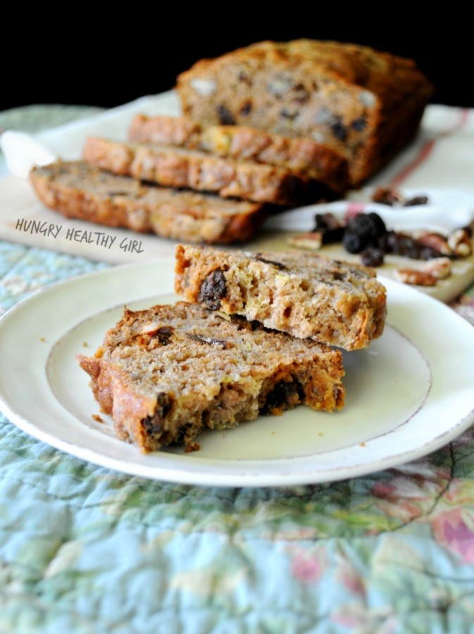 The Ultimate Banana Bread- nutritious and delicious with raisins and pecans.