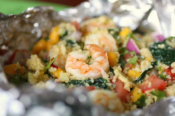 shrimp with mango salsa packets