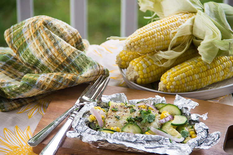 Grilled Coconut Lime Fish Packets