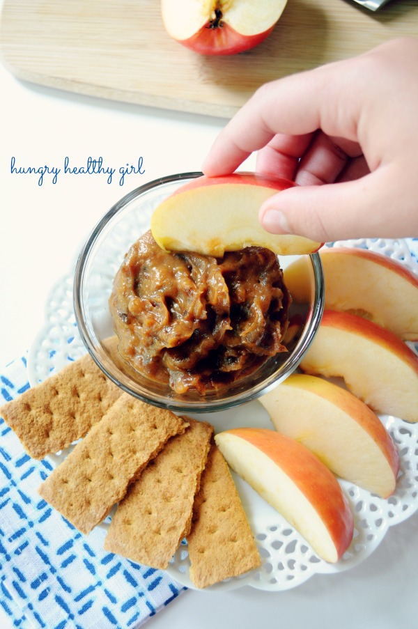 Healthy Caramel Dip made with dates