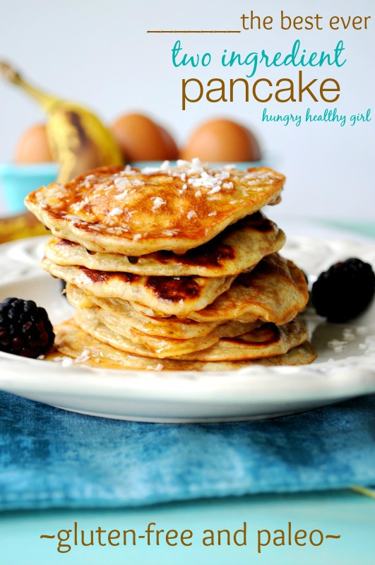 The Best Ever Two Ingredient Pancake!