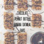 Chocolate Peanut Butter Banana Oatmeal Bars + Big Little Lies (a book review)