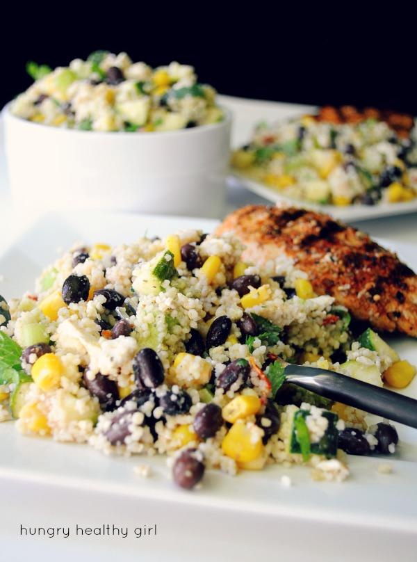 Chilled black bean couscous salad kims cravings chilled black bean couscous salad sisterspd