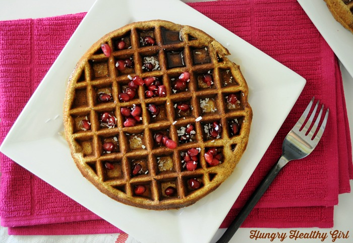 A grain-free pumpkin waffle that is big on taste and nutrition! {Paleo, gluten-free and made with all-natural ingredients in the blender}