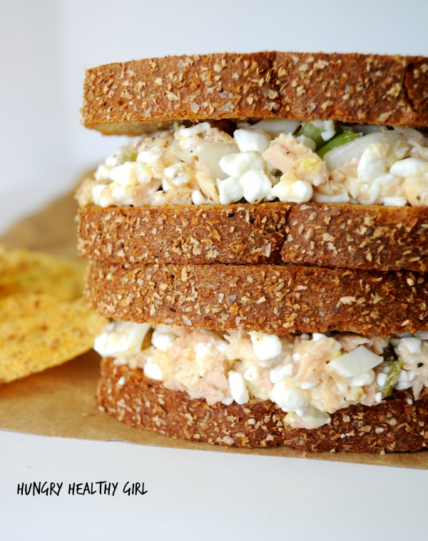 Classic Tuna Salad made healthier with cottage cheese