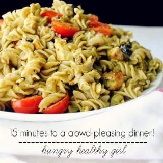15 minute Pesto Pasta