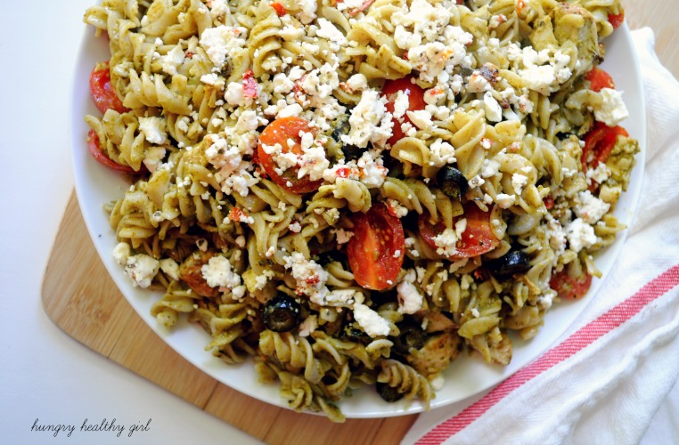 Pesto Pasta- a quick, easy, crowd-pleasing dinner in 15 minutes!