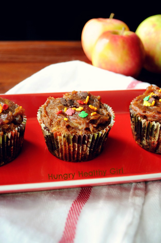 Paleo Gluten-free Caramel Apple Cupcakes- two favorite Fall flavors come together perfectly in these super clean and scrumptious cupcakes!