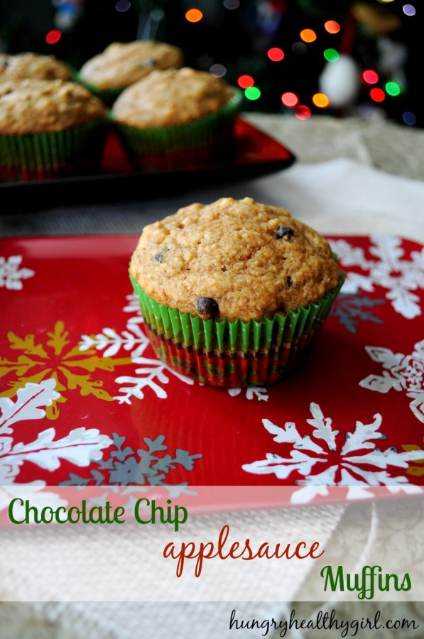 chocolate chip appleasauce muffins