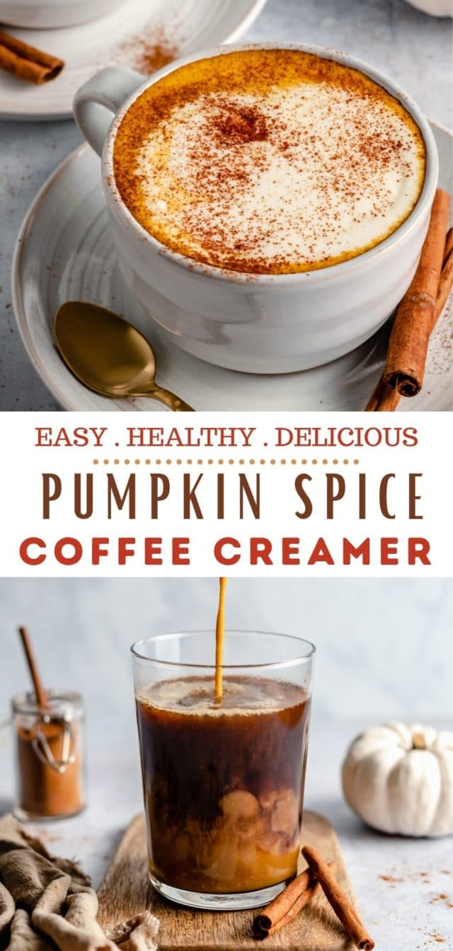 how to make Healthy Pumpkin Spice Creamer