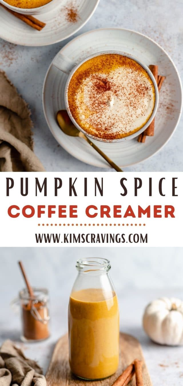 recipe for Healthy Pumpkin Spice Creamer