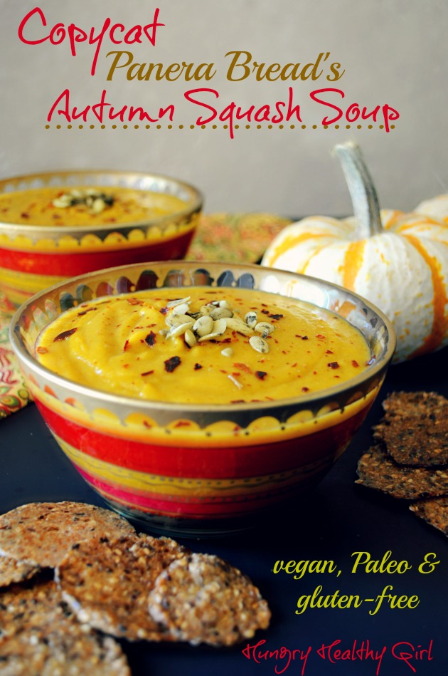 Autumn Squash Soup- A tasty soup with lovely Fall flavors!
