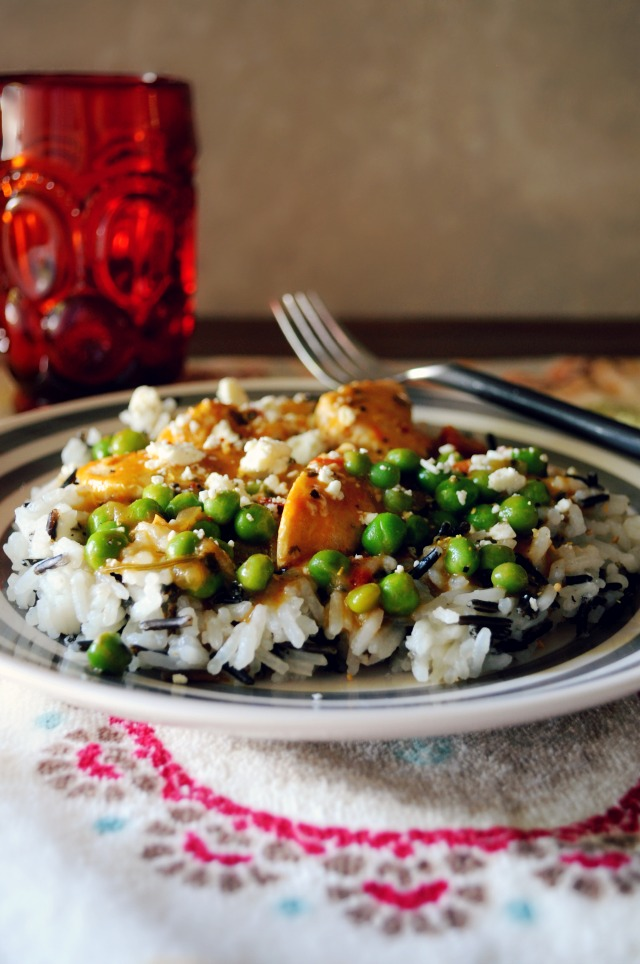 Thai Coconut Curry Chicken with Wild Rice