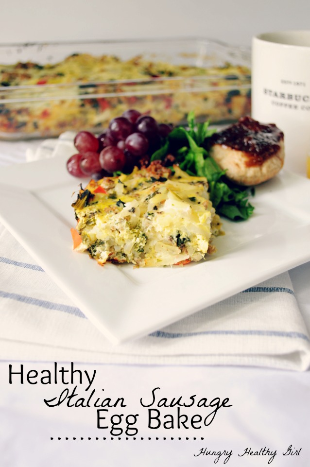Healthy Italian Sausage Egg Back- an egg-cellent make-ahead meal and perfect for a gathering!