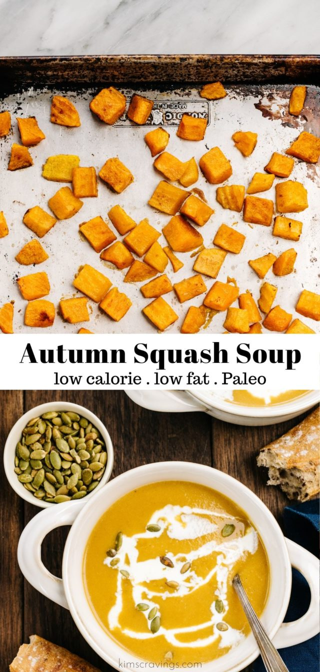 autumn squash soup made with roasted butternut squash