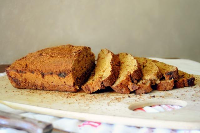 Gluten-free Snickerdoodle Quick Bread- the combination of a crispy cinnamon sugar crust with a moist cinnamon center is over-the-top delicious!