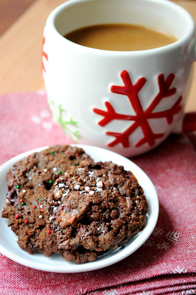 Leave these Fudgy Candy Cane Cookies out for Santa and you will be sure to get everything that you're wishing for this holiday season! (vegan)