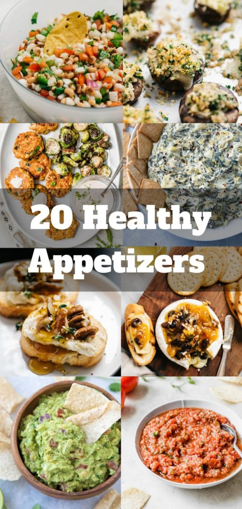 20 healthy appetizers for a dinner or party menu