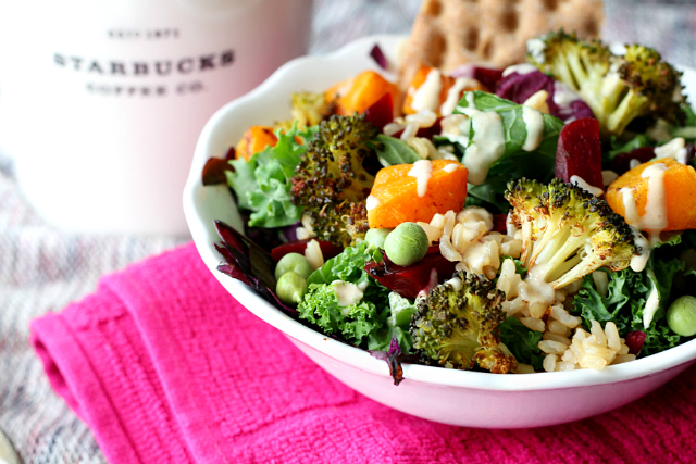 If you're as crazy about the Starbucks veggie and brown rice salad bowl as I am or you just want a damn good salad, you've got to give this copycat recipe a try!