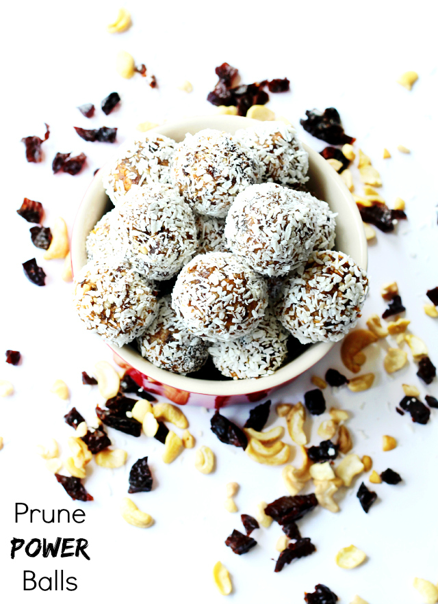 Prune Power Balls- loaded with antioxidants, fiber and flavor!
