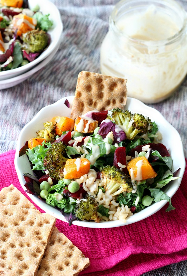 Wasa Crispbreads with my Copycat Starbucks Hearty Veggie and Brown Rice Salad Bowl