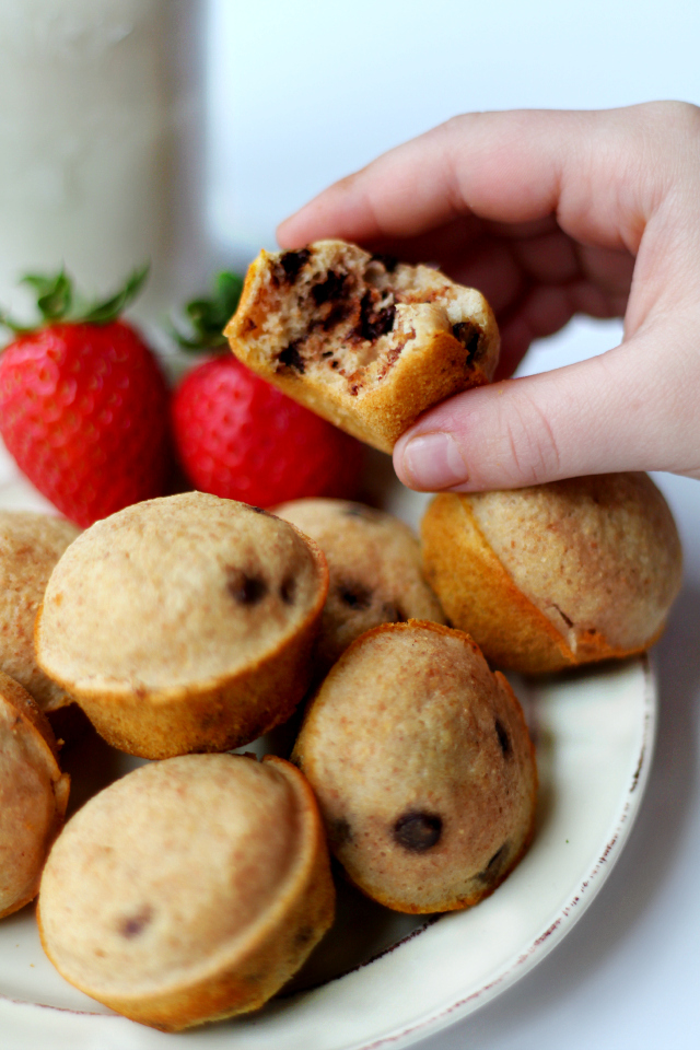 Chocolate Chip Pancake Poppers- your favorite pancake in cute, portable, mini popper form!