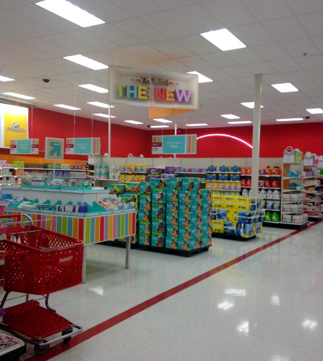 Seasonal display at Target
