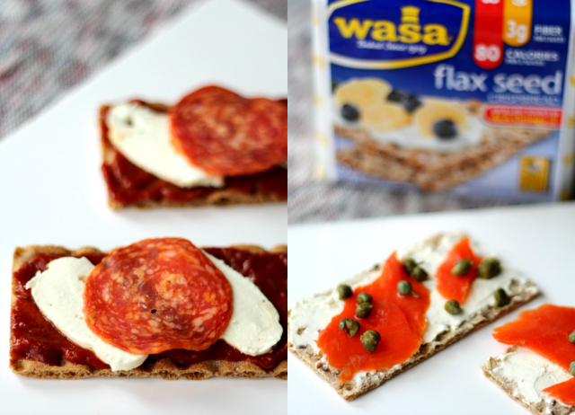 Snack options with Wasa Crispbreads