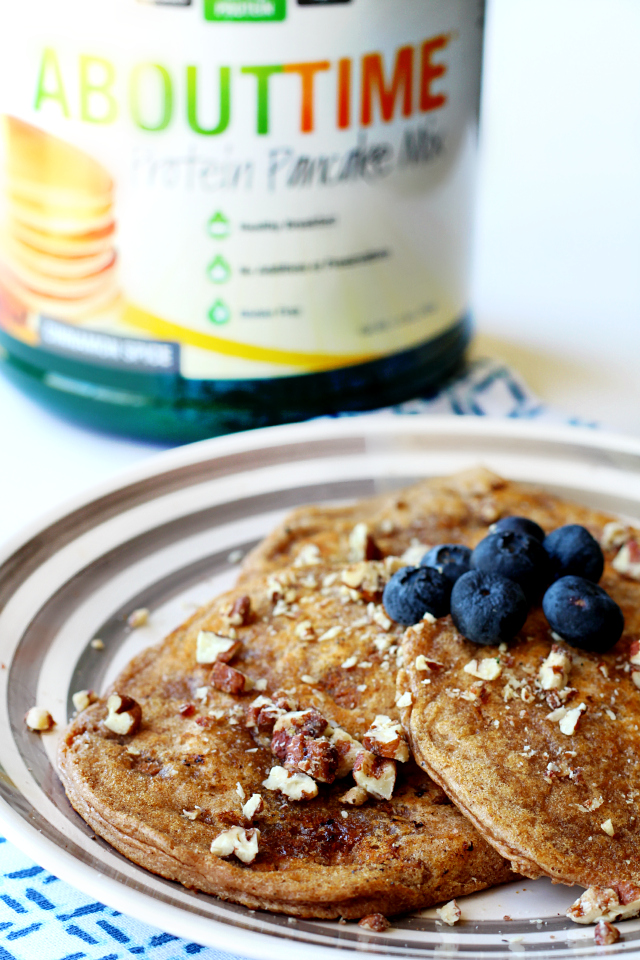 About Time's protein pancake mix