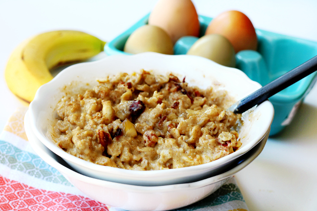 Banana Whipped Eggy Oatmeal- protein-packed oats with a lovely flavor and texture!