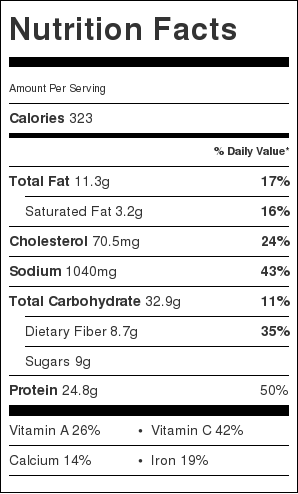 taco mac and cheese nutritional information